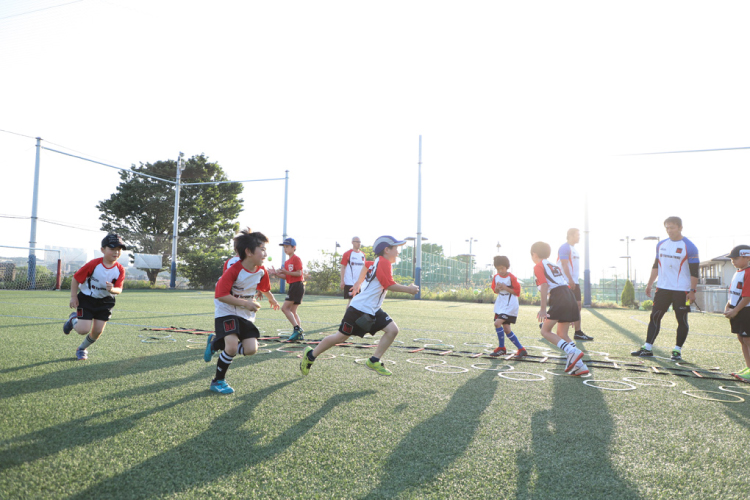 ラグビー練習風景2